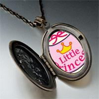 Necklace & Pendants - cartoon theme photo oval flower yellow little princess pendant necklace Image.