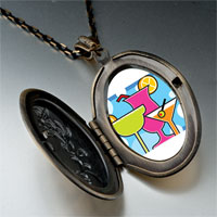 Necklace & Pendants - cartoon theme photo oval flower yellow cocktail summer pendant necklace Image.