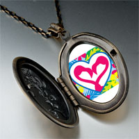 Necklace & Pendants - love theme heart photo pendant necklace Image.