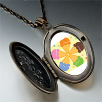 Necklace & Pendants - pink orange blue green flower pendant necklace Image.