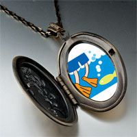 Necklace & Pendants - animal swimming fish photo pendant necklace Image.
