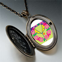 Necklace & Pendants - travel flower wreath photo pendant necklace Image.