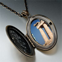 Necklace & Pendants - landmark greece photo pendant necklace Image.