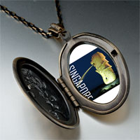 Necklace & Pendants - travel merlion photo pendant necklace Image.