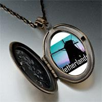 Necklace & Pendants - travel windmill netherlands photo pendant necklace Image.
