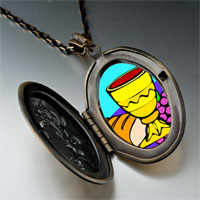 Necklace & Pendants - religion bread &  wine photo pendant necklace Image.