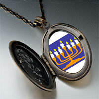Necklace & Pendants - religion menorah photo pendant necklace Image.