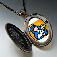 Necklace & Pendants - religion christian mary jesus photo pendant necklace Image.