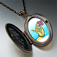 Necklace & Pendants - religion buddhism lotus photo pendant necklace Image.