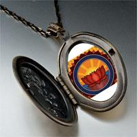 Necklace & Pendants - religion buddhism holy lotus photo pendant necklace Image.