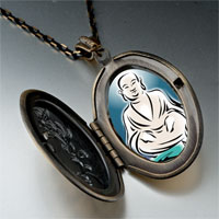 Necklace & Pendants - religion holy buddha lotus photo pendant necklace Image.