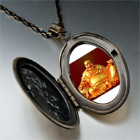 Necklace & Pendants - religion huge buddha figure photo pendant necklace Image.