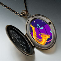 Necklace & Pendants - music saxophone photo pendant necklace Image.