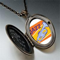 Necklace & Pendants - music jazz instrument photo pendant necklace Image.