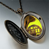 Necklace & Pendants - music romantic saxophone photo pendant necklace Image.