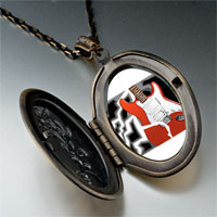 Necklace & Pendants - music theme powerful electric guitar photo pendant necklace Image.