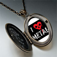 Necklace & Pendants - music theme love metal photo pendant necklace Image.