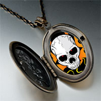 Necklace & Pendants - music theme horror halloween skull photo pendant necklace Image.