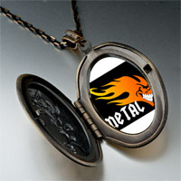 Necklace & Pendants - music theme metal fire photo pendant necklace Image.