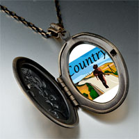 Necklace & Pendants - music theme country scene photo pendant necklace Image.