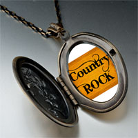 Necklace & Pendants - music theme country rock letter photo pendant necklace Image.