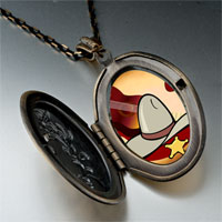 Necklace & Pendants - music theme cowboy photo pendant necklace Image.