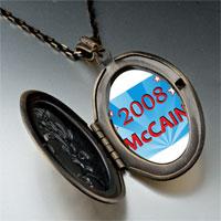 Necklace & Pendants - usa patriotic 2008  mccain photo pendant necklace Image.