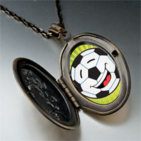 Necklace & Pendants - sports soccer photo pendant necklace Image.