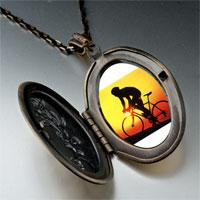 Necklace & Pendants - sports cyclocross photo pendant necklace Image.