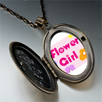 Necklace & Pendants - character flower girl photo pendant necklace Image.