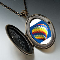 Necklace & Pendants - travel hot air balloon photo pendant necklace Image.