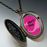 Necklace & Pendants - mother' s day elephant' s nose carrying pink flower pendant necklace oval yellow Image.