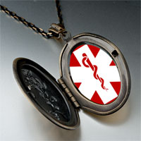Necklace & Pendants - sign medical alert photo pendant necklace Image.