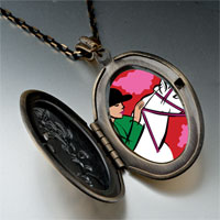 Necklace & Pendants - hobbies ride equestrian horse photo pendant necklace Image.