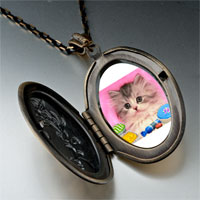 Necklace & Pendants - naughty kitten photo italian pendant necklace Image.