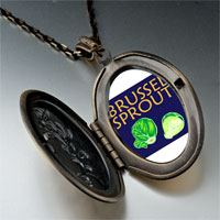 Necklace & Pendants - brussels sprouts photo italian pendant necklace Image.