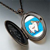 Necklace & Pendants - tooth brush photo italian pendant necklace Image.