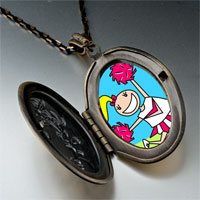 Necklace & Pendants - cheering cheer leader photo italian pendant necklace Image.