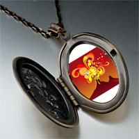 Necklace & Pendants - volcanic explosion photo italian pendant necklace Image.