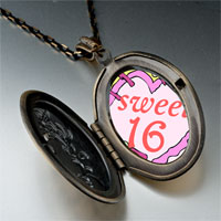 Necklace & Pendants - sweet 16  birthday cake photo italian pendant necklace Image.