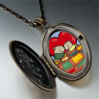 Necklace & Pendants - cute husband wife bears photo italian pendant necklace Image.