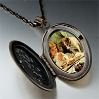 Necklace & Pendants - girl puppy photo italian pendant necklace Image.