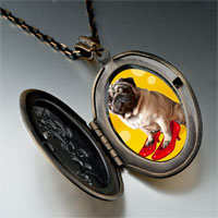 Necklace & Pendants - puppy in red high heel shoe pendant necklace Image.