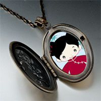 Necklace & Pendants - girl in costume photo italian pendant necklace Image.