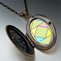 Necklace & Pendants - multi color geometric figure photo italian pendant necklace Image.