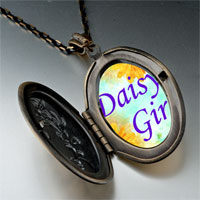 Necklace & Pendants - daisy girl photo italian pendant necklace Image.