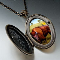 Necklace & Pendants - buffalo bird photo italian pendant necklace Image.