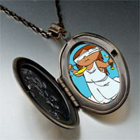 Necklace & Pendants - blind justice photo italian pendant necklace Image.