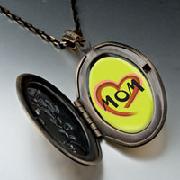 Necklace & Pendants - colorful heart necklace oval flower yellow pendant Image.