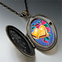 Necklace & Pendants - christmas jewelry holly bells pendant necklace Image.